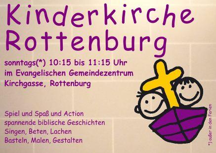 Kindergottesdienst Evangelische Kirchengemeinde Rottenburg
